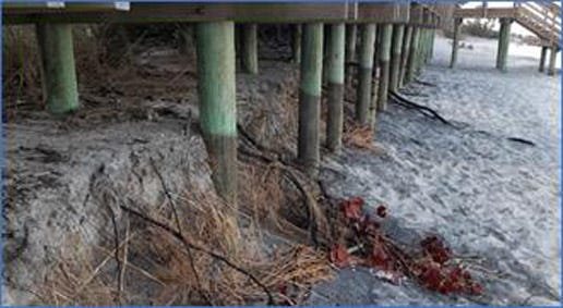 Erosion has impacted the Caspersen Beach Park Gulf-side boardwalk.