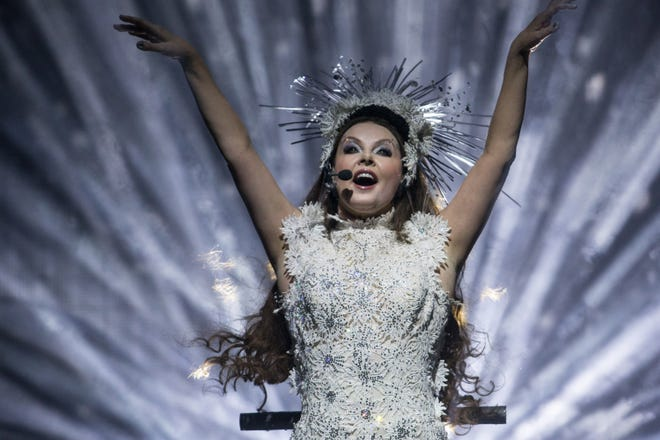 Sarah Brightman, seen here performing at Honda Center in Anaheim, California, is set to visit Sarasota's Van Wezel next year.