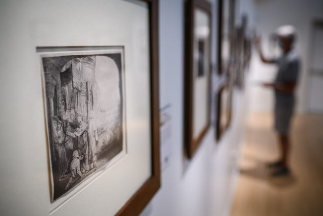The 'Rembrandt: The Sign and the Light' exhibition at Methodist University runs until Nov. 18. The exhibition features 59 etchings by the Dutch artist.