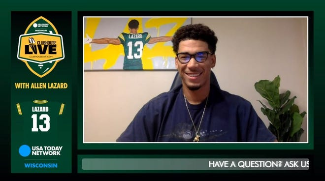 Green Bay Packers wide receiver Allen Lazard debuted Monday as the co-host of Clubhouse Live, USA TODAY NETWORK-Wisconsin' live weekly Packers show.
