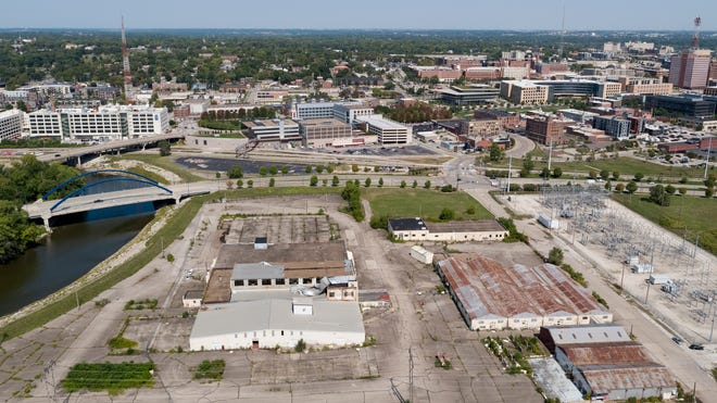 The former DICO site is seen on Tuesday, Sept. 15, 2020, in Des Moines. The site was in legal battles for decades, but the city of Des Moines announced it was taking ownership of the site, with plans to develop it in the future.