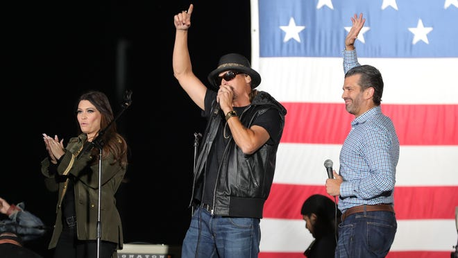 Kid Rock Performs At Trump Jr Rally In Harrison Township