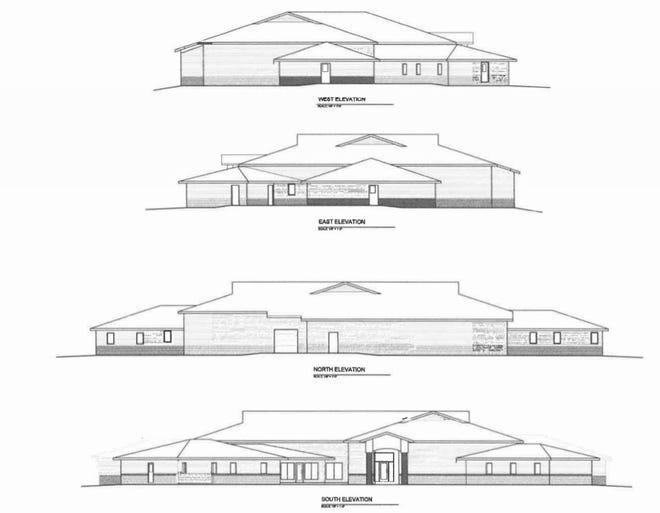 An architect's rendering of the proposed homeless shelter, to be built through a partnership between St. Vincent de Paul and Solutions Center  Shelter & Support Services.
