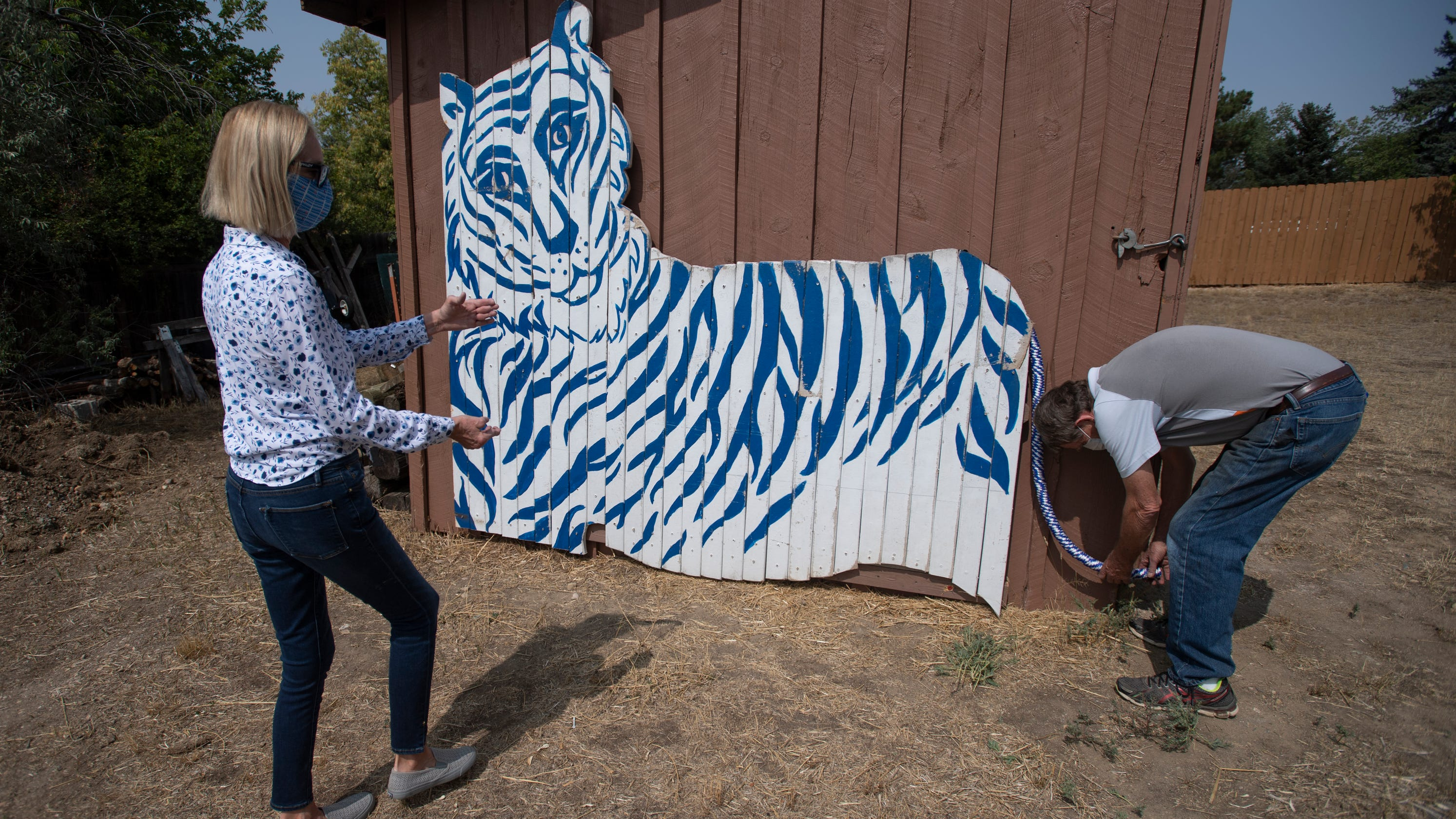 Tavelli Elementary's 'Tiger World' playground is gone, but its beloved tiger lives on