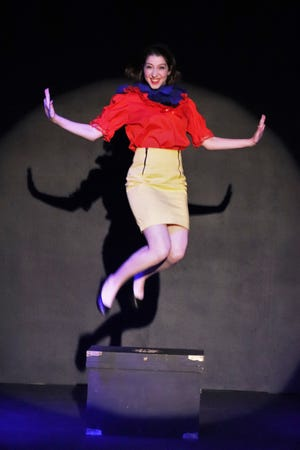 "Rachael Lord as Snow White in Lab Theater's ""Disenchanted"""