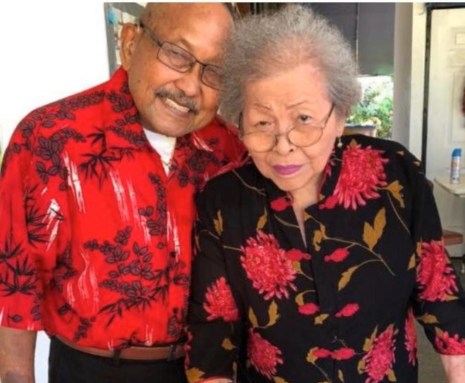 """Jesusa """"Susie"""" and Vicente """"Ben"""" Arceo celebrate 70 years of marriage on Sept. 16, 2020."""