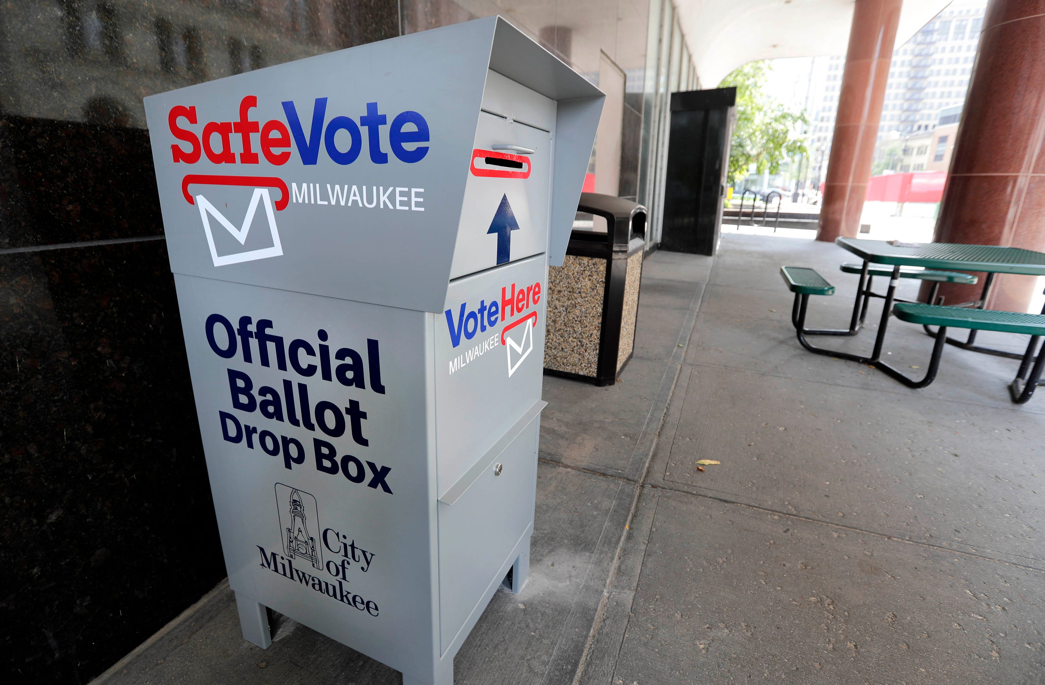 Ballot Drop Off In Milwaukee 15 Secure Boxes For Absentee Votes