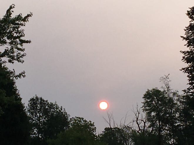A hazy sunrise over Muncie was caused by smoke from West Coast wildfires.
