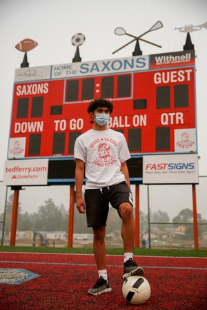 South Salem High School soccer player Alexis Luna Ramirez poses for a portrait on Tuesday, Sept. 15, 2020 at South Salem High School in Salem, Oregon.