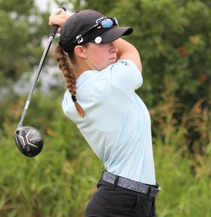 San Angelo Central High School junior Ryann Honea is shown during an American Junior Golf Association (AJGA) event this past summer. Honea is making headlines again in 2020.