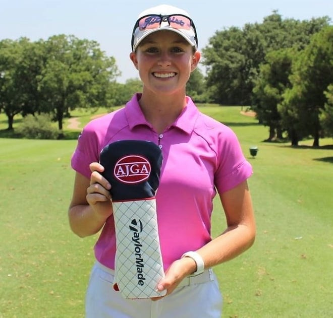San Angelo Central High School junior golfer Ryann Honea was a co-champion at the North Texas Classic in Grand Prairie, Texas on Sunday, Sept. 13, 2020. Honea finished at 2-under par after shooting 67-75--142.