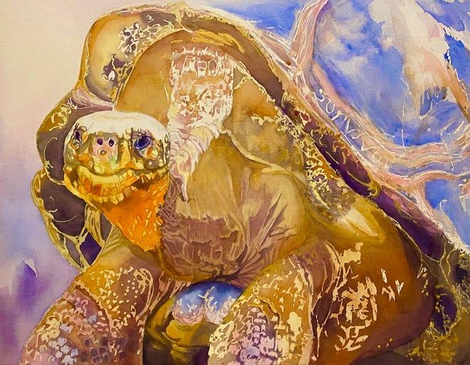 Golden Giant by Sherry Allen is part of the 2020 Brush Strokes online exhibit.