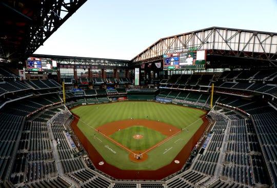 The Texas Rangers' home ballpark Globe Life Field will host the 2020 World Series.