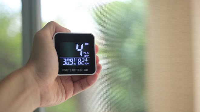 An air quality monitor can inform you of any particles in your home.