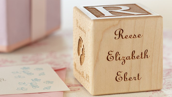Best gifts for babies: A charming keepsake wooden block