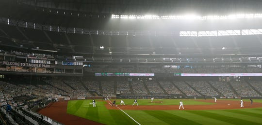 A view inside T-Mobile Park during Game 1 of a doubleheader between the A's and Mariners.
