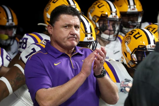 "LSU coach Ed Orgeron said Tuesday that, ""Most — not all of our players — but most of our players have caught"" COVID-19."