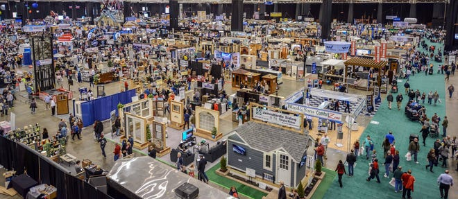Visitors roam at The Great Big Home and Garden Show at the I-X Center in Cleveland. The events venue announced Wednesday that it is closing permanently after struggling during the COVID-19 pandemic.