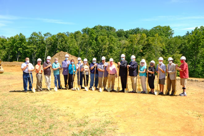 Pictured is the groundbreaking ceremony for the Monroe Family Health Center in Woodsfield.