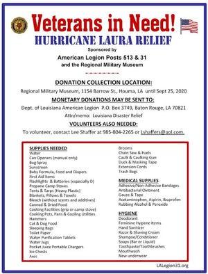 Hurricane Laura supply drive.