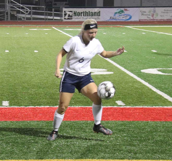 Kenze Epema and the Crookston girls' soccer team fell 6-0 at East Grand Forks on Thursday.