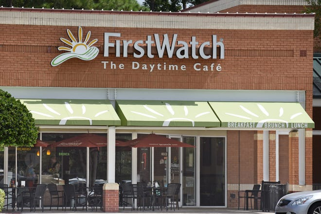 First Watch will open its newest Jacksonville-area restaurant Monday in Nocatee Town Center North in Ponte Vedra Beach. Pictured is the First Watch at 9680 Argyle Forest Blvd. in Jacksonville.