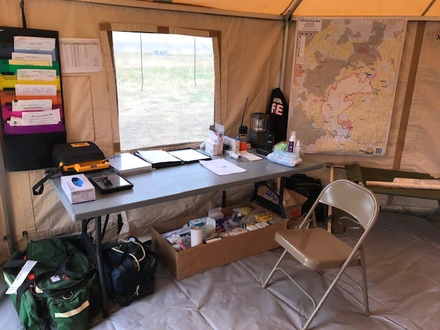 Tallmadge Fire Chief Mike Passarelli volunteered during his vacation to help with the medical needs of fire crews in Oregon in August who were battling wildfires. He lived in a tent and slept on a cot.