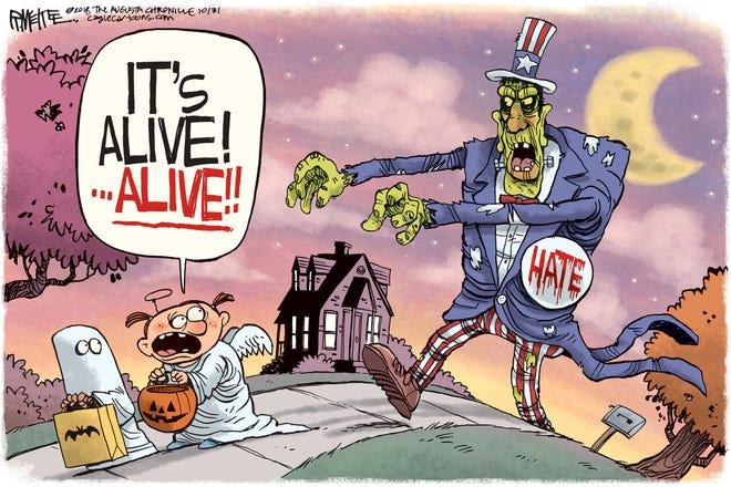 Michael Reagan column cartoon