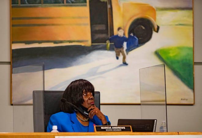 School board member Marcia Andrews