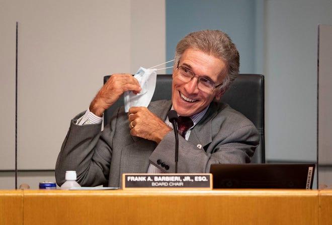 Palm Beach County School Board Chairman Frank Barbieri listens Sept. 16 at a board meeting in West Palm Beach. [ALLEN EYESTONE/palmbeachpost.com]