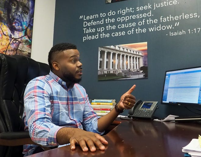 """Stockton Mayor Michael Tubbs talks about the city's universal basic income program in January. Said Tubbs earlier this year: """"For the city of Stockton, which has had its ups and downs, for us to now be at the center of a global conversation about what capitalism and the economy look like in the 21st century, it's very special."""""""