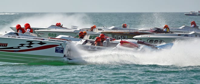Thousands of people attended the 2019 Englewood Beach Waterfest to view the World Championships for OPA Racing on Nov. 23, 2019, at Englewood Beach.