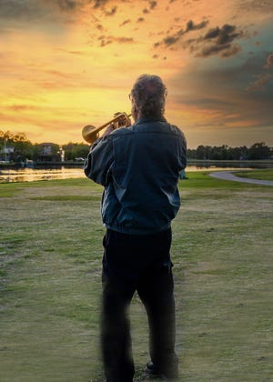 Bob Dumon has honored our Fairfield Harbour community by playing Taps at 8 pm every night since early April. Residents have looked forward to the touching moments for the past five months.[CONTRIBUTED PHOTO]