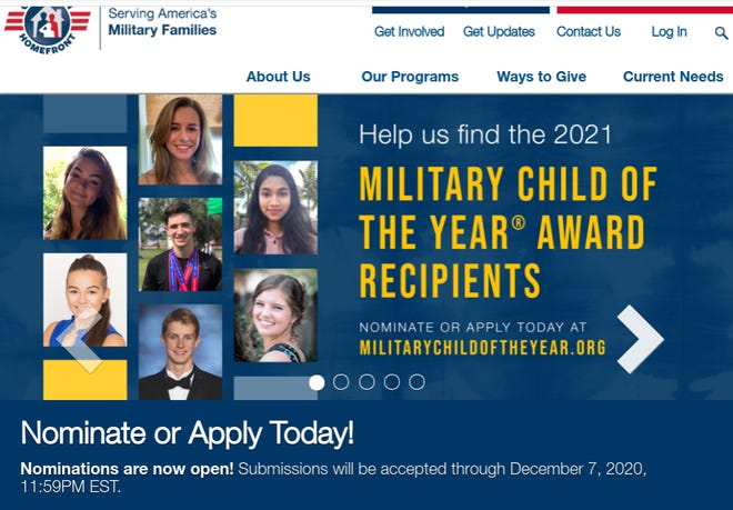 Operation Homefront is seeking nominees for its annual Military Child of the Year gala. Nominations are open through Dec. 7, 2020.