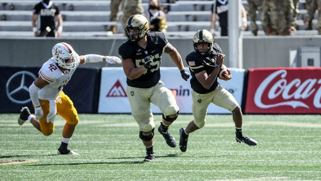 Army is off to its first  2-0 start since 2017. The Black Knights lost an opportunity to move to 3-0 when Saturday's home game was postponed due to positive coronavirus tests on BYU's campus. MARK WELLMAN/ARMY ATHLETICS