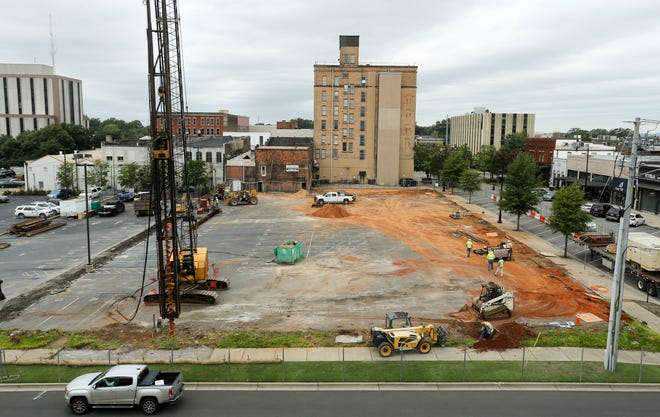 Construction work has begun on the Alamite hotel as seen Wednesday, Sept. 16, 2020. It will be the first Marriott Tribute Portfolio Hotel in Alabama. The location is at the corner of 23rd. Avenue and 6th Street across from the Intermodal Parking Deck.  [Staff Photo/Gary Cosby Jr.]