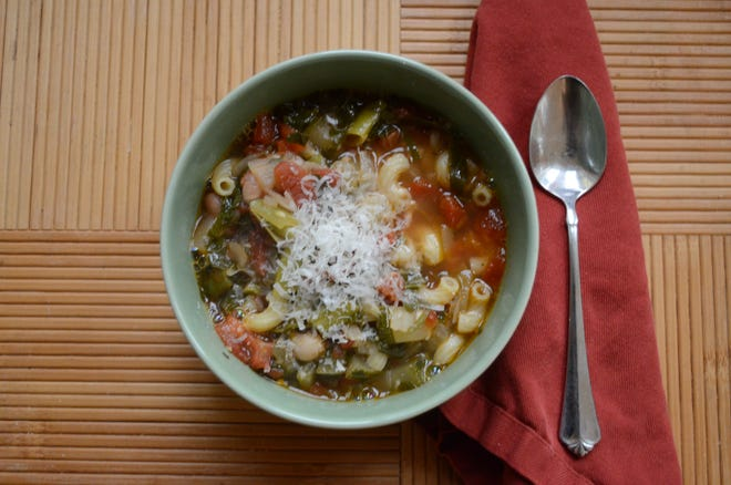 This minestrone allows you to savor the summer vegetables before the nip of fall comes.