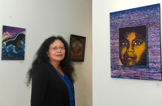 "Santa Barraza opens Barraza Fine Art, Tuesday, Sept. 15, 2020, in Kingsville. The ""Spiritual Awakening"" gallery includes work from 25 artists across the U.S."