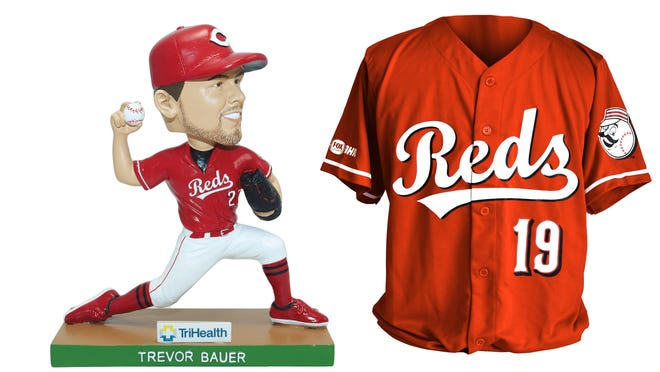 The Reds are giving away bobbleheads and a Joey Votto replica jersey at fan events at select Kroger locations in September.