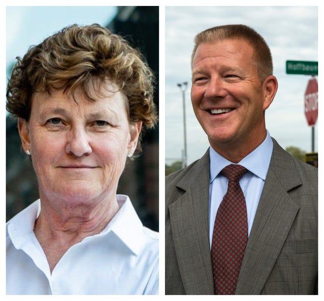 2020 Hamilton County Sheriff candidates Charmaine McGuffey and Bruce Hoffbauer