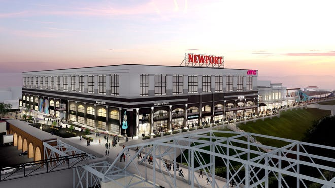 An artist's rendering of planned redevelopment at Newport on the Levee