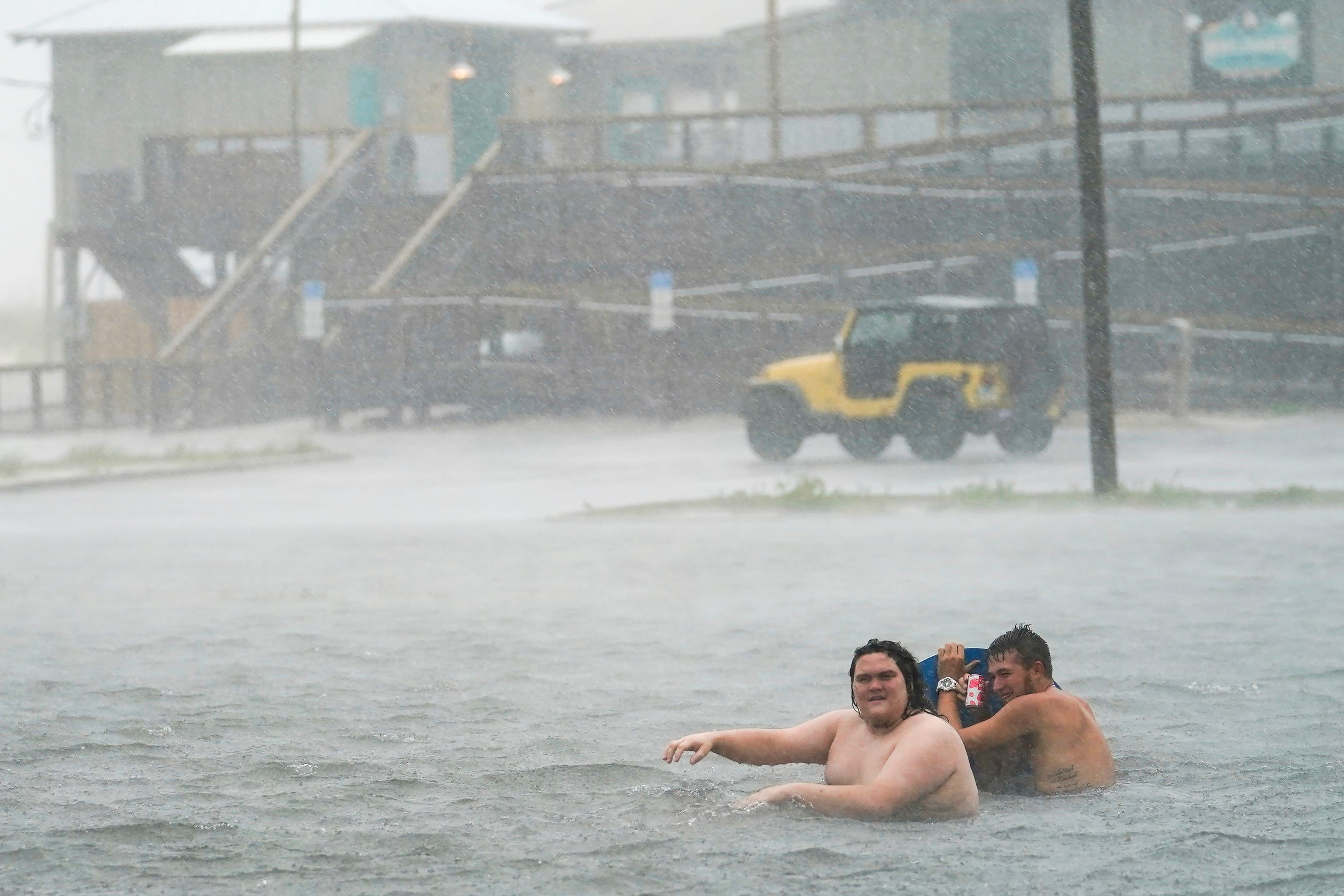 Resurgent Sally drenches Alabama, Florida