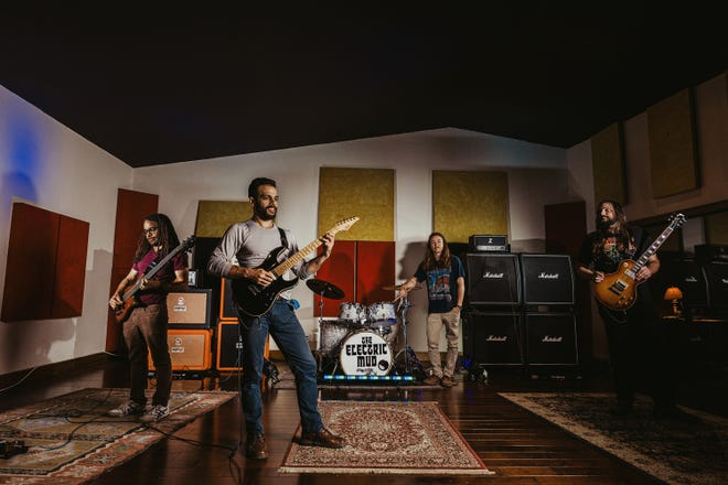 Fort Myers rock band The Electric Mud in the studio
