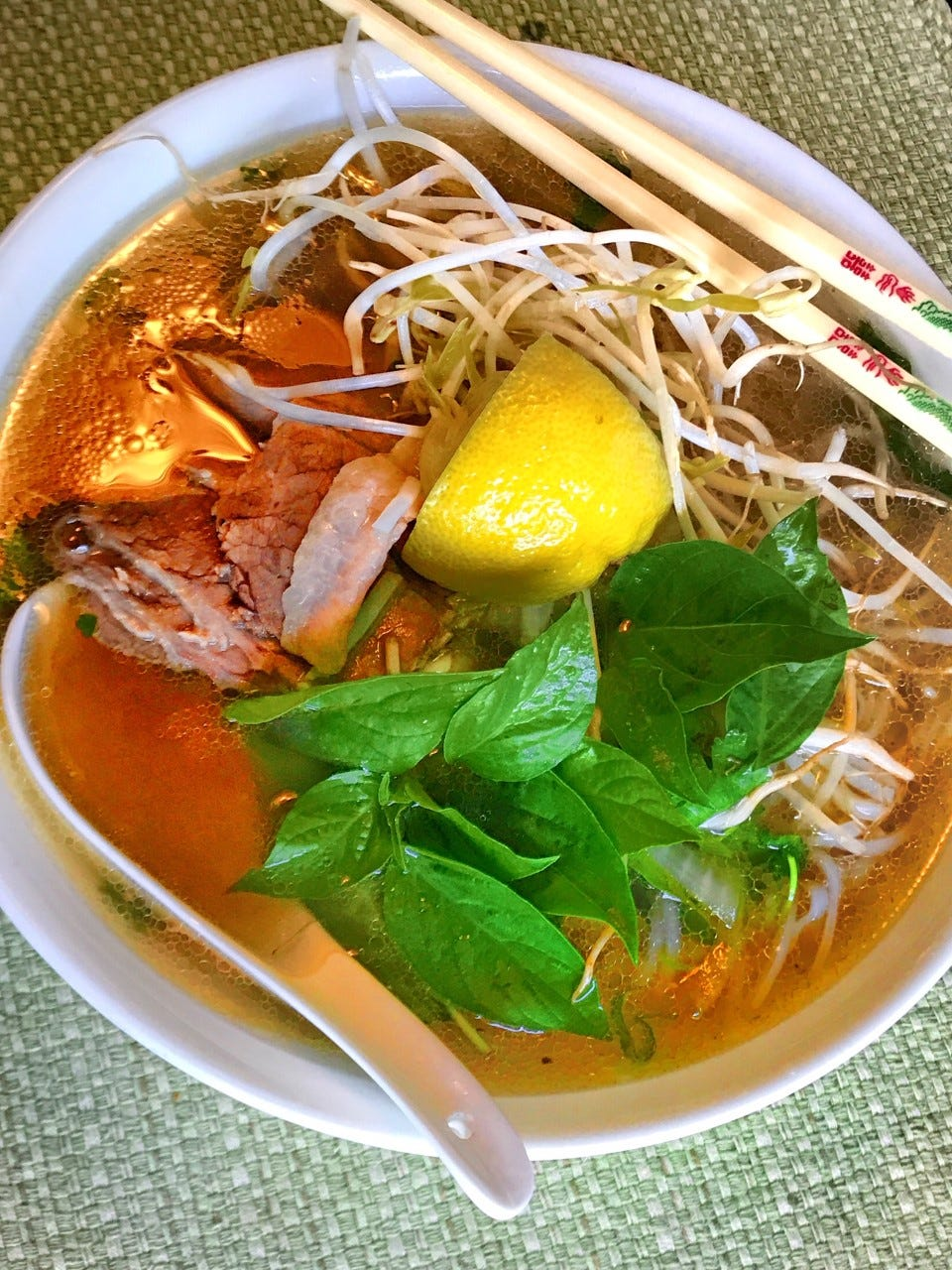 Spicy pho from I-Sandwich & Pho in Harmon.