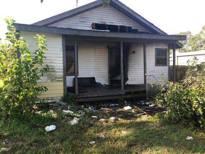 A home on Olivier Street was damaged after someone intentionally set it on fire, the Lafayette Fire Department said.
