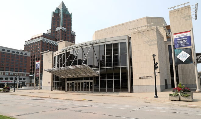 The Marcus Performing Arts Center's redevelopment plan includes new seating in Uihlein Hall, its largest theater.