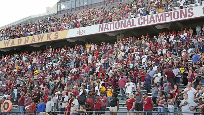 On Tuesday, Louisiana-Monroe announced game-day guidelines for the 2020 season that include a 25-percent cap on attendance and no on-campus tailgating and RV parking. The guidelines, which came from inside the athletic department and the University of Louisiana System, adhere to the Phase 3 restrictions from Gov. John Bel Edwards' office.