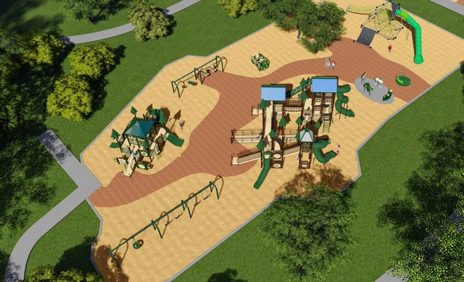 Design by Great Southern Recreation for the Bowie Nature Park playground in Fairview presented in August.
