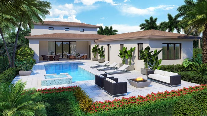 London Bay Homes' new Tortuga model boasts lake views, an expansive master suite, and 3,308 square feet of living space.