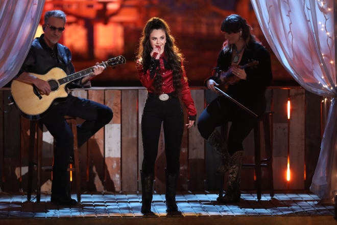 "Farmington High School graduate Chevel Shepherd, shown here performing during season 15 of ""The Voice"" on NBC, will be featured in a drive-in concert next month in Albuquerque."